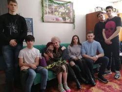 Посещение ветерана-блокадника в канун 75-летия снятия блокады Ленинграда